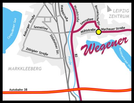 Wegbeschreibung Wegener-GmbH in Markkleeberg